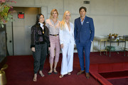 (L-R) Lucila Sperber, Delfina Blaquier, Sofia Achaval De Montaigu, and Nacho Figueras attend the Acheval Presentation in the Sunken Living Room at Spring Studios during New York Fashion Week: The Shows on September 09, 2019 in New York City.