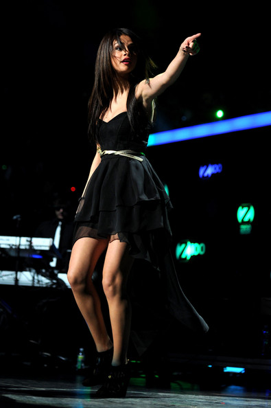 Selena Gomez Selena Gomez performs during Z100's Jingle Ball 2010 at Madison