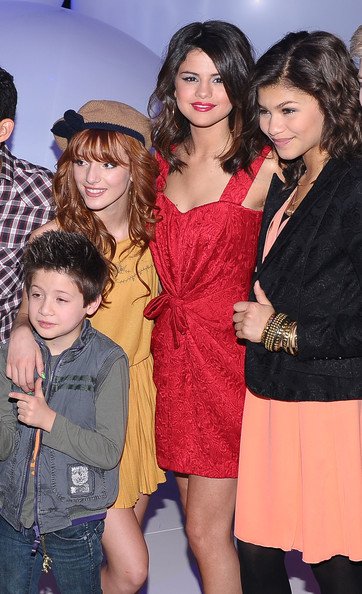 Selena Gomez (L-R) Actors Davis Cleveland, Bella Thorne, Selena Gomez and Zendaya Coleman attend the 2011 Disney Kids & Family upfront at Gotham Hall on March 16, 2011 in New York City.