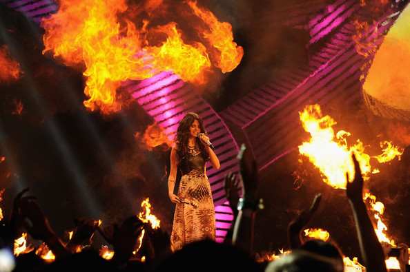 Selena Gomez MTV Europe Music Awards Hostess Selena Gomez speaks onstage during the MTV Europe Music Awards 2011 live show at at the Odyssey Arena on November 6, 2011 in Belfast, Northern Ireland.