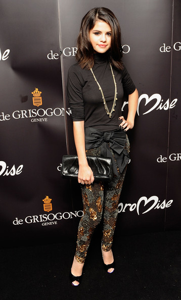 Selena Gomez Selena Gomez attends the launch party for 'Promise', a new capsule ring collection created by Cheryl Cole and de Grisogono, at Nobu London on September 29, 2010 in London, England.