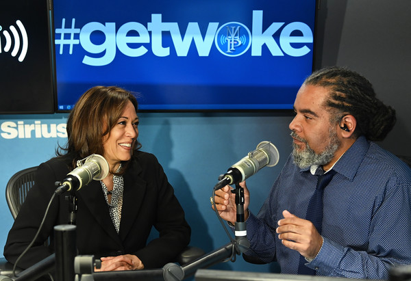 Sen. Kamala Harris Speaks With Host Mark Thompson At SiriusXM's New York Studios