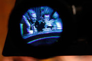 Senate Budget committee ranking member Sen. Judd Gregg (R-NH) (L) and committee Chairman Kent Conrad (D-ND) are seen through a television viewfinder during a hearing about the CBO's Budget and Economic Outlook for FY 2010 to 2020 January 28, 2010 in Washington, DC. The CBO's latest estimates see a $1.35 trillion deficit for the current budget year, dropping to $980 billion next year only if a host of tax cuts enacted under President George W. Bush are allowed to expire at the end of the year.