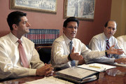 U.S. Rep. Paul Ryan (R-WI) (L), U.S. Rep. Eric Cantor (R-VA) (C) and U.S. Rep. Dave Camp (R-MI) (R)  speak to the media during a news conference on Capitol Hill, October 1, 2013 in Washington DC. Senate Democrats rejected negotiating with the House on government funding, leaving no clear path for ending the federal shutdown that began at midnight.