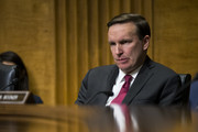 Sen. Chris Murphy (D-CT) listens to testimony during a Senate Foreign Relations Committee hearing concerning terrorism and radicalization in North Africa, on Capitol Hill, December 6, 2017 in Washington, DC.