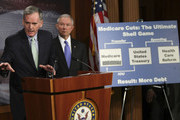 Sen. Judd Gregg (R-NH) speaks during a press conference on pending healthcare legislation in the U.S. Senate with Sen. Jeff Sessions (R-AL) (R) at the U.S. Capitol December 23, 2009 in Washington, DC.  The U.S. Senate is expected to vote on final passage of their national healthcare legislation tomorrow, Christmas Eve.