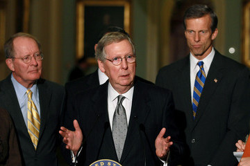 Mitch McConnell Senate Republicans And Democrats Speak To The Media After Their Weekly Policy Luncheons