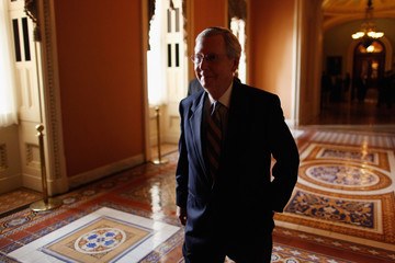 Mitch McConnell Senate Republicans Holds Weekly Policy Luncheon