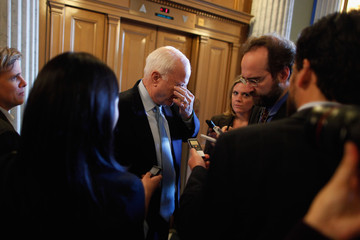 John McCain Senate Republicans Holds Weekly Policy Luncheon