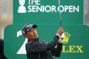 Thaworn Wiratchant of Thailand in action during the final round of the Senior Open presented by Rolex played at The Old Course on July 29, 2018 in St. Andrews, Scotland.