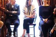"""Actors Jim Boardbent, Michelle Dockery, Harriet Walter attend the """"The Sense of an Ending"""" Lunch & Q and A at The Lotus Club on March 7, 2017 in New York City."""