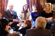 """Actors Jim Broadbent, Michelle Dockery, Harriet Walter and Dr. Amanda Foreman attend the """"The Sense of an Ending"""" Lunch & Q and A at The Lotus Club on March 7, 2017 in New York City."""