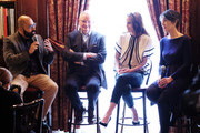 """Director Ritesh Batra, Jim Broadbent, Michelle Dockery and Harriet Walter attend the """"The Sense of an Ending"""" Lunch & Q and A at The Lotus Club on March 7, 2017 in New York City."""