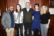 """Director Ritesh Batra, Michelle Dockery, Jim Boardbent, Harriet Walter and Dr. Amanda Foreman attend the """"The Sense of an Ending"""" Lunch & Q and A at The Lotus Club on March 7, 2017 in New York City."""