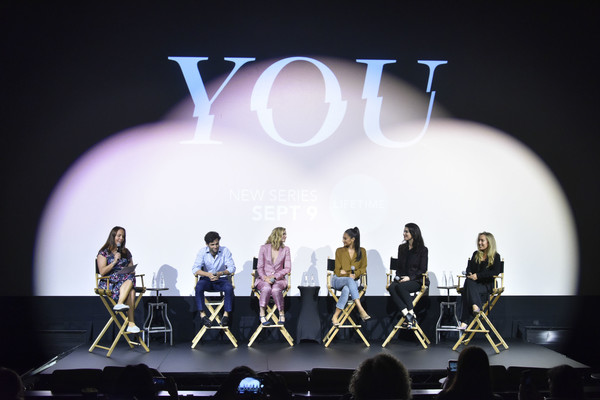 Screening Of Lifetime's 'You' Series Premiere [you series premiere,performance,entertainment,stage,performing arts,event,performance art,concert,public event,theatre,talent show,kristen baldwin,shay mitchell,sera gamble,penn badgley,elizabeth lail,caroline kepnes,lifetime,screening,screening of lifetimes ``you series premiere]