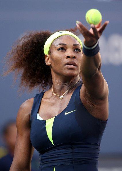 Serena Williams Serena Williams of the United States serves during the ... Serena