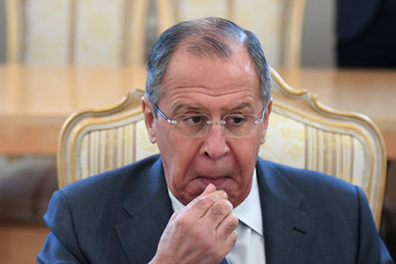 Sergei Lavrov Russia's Foreign Minister Sergei Lavrov Meets With His Venezuelan Counterpart