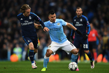 Sergio Aguero Manchester City FC v Real Madrid - UEFA Champions League Semi Final: First Leg