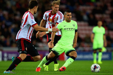 Sergio Aguero Sunderland v Manchester City - Capital One Cup Third Round