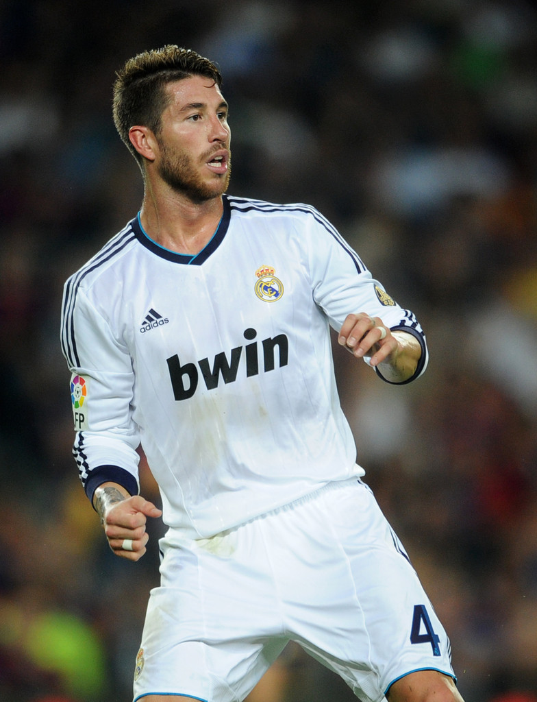Real Madrid 4 Serglo Ramos 2013 2014 White Home Soccer Club Jersey ...