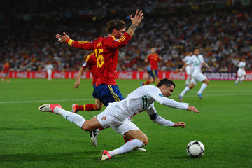 Sergio Ramos UEFA EURO 2012 - Matchday 17 - Pictures Of The Day