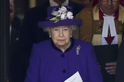 Queen Elizabeth II leaves a Service of Thanksgiving for the life and work of Lord Snowdon at Westminster Abbey on April 7, 2017 in London, United Kingdom.