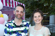 Christopher Robinson and Amanda Knox attend Hilarity For Charity's County Fair hosted by Seth Rogen & Lauren Miller Rogen at The Row on September 14, 2019 in Los Angeles, California.