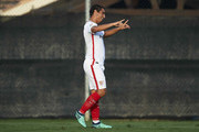 Wissam Ben Yedder of Sevilla FC celebrates after scoring during Pre- Season friendly Match between Sevilla FC and  AFC Bournemouth at La Manga Club on July 14, 2018 in Murcia, Spain.