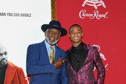 "Richard Roundtree and Jessie T. Usher attend the ""Shaft"" premiere at AMC Lincoln Square Theater on June 10, 2019 in New York City."