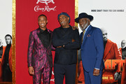 "(L-R) Jessie T. Usher, Samuel L. Jackson and Richard Roundtree attend the ""Shaft"" premiere at AMC Lincoln Square Theater on June 10, 2019 in New York City."