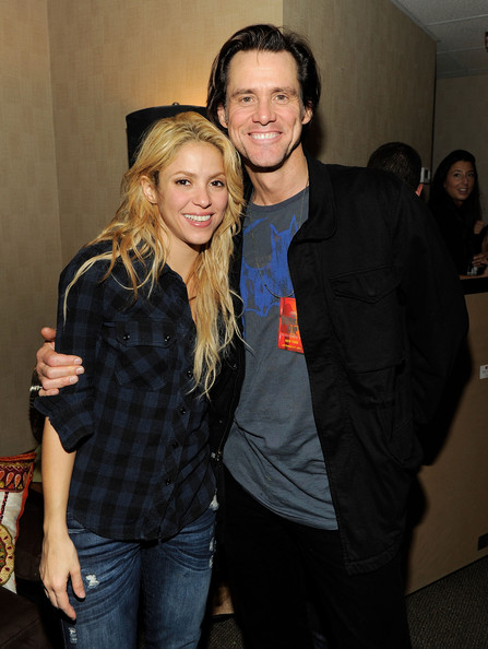 Shakira (Exclusive Coverage) Shakira and Jim Carrey pose backstage after the Shakira concert at Madison Square Garden on September 21, 2010 in New York, New York.