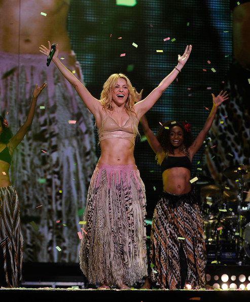 shakira photos photos shakira in concert at madison square garden show zimbio