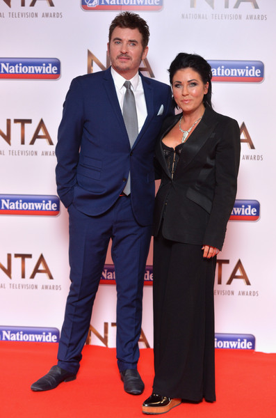 National Television Awards - Winners Room [suit,carpet,red carpet,event,formal wear,premiere,white-collar worker,award,flooring,tuxedo,shane richie,jessie wallace,national television awards,room,london,england,the o2 arena]