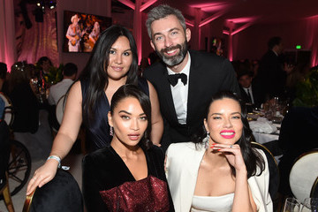 Shanina Shaik Milan Blagojevic 27th Annual Elton John AIDS Foundation Academy Awards Viewing Party Sponsored By IMDb And Neuro Drinks Celebrating EJAF And The 91st Academy Awards - Inside