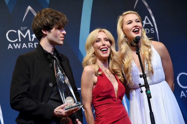 The 51st Annual CMA Awards - Press Room [performance,event,music artist,singing,musician,music,musical ensemble,performing arts,singer,fun,shannon campbell,kim campbell,ashley campbell,cma awards,room,media room,tennessee,nashville,bridgestone arena]