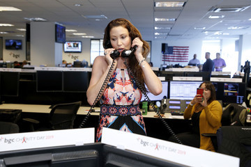 Shannon Elizabeth Annual Charity Day Hosted By Cantor Fitzgerald, BGC, And GFI - BGC Office – Inside