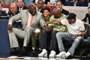 Shaquille O'Neal Celebrities Attend The 66th NBA All-Star Game