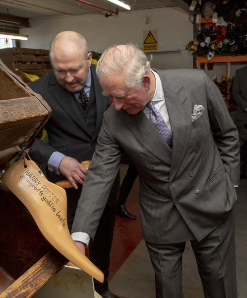 Prince Charles, Prince Of Wales Visits Shoemakers Tricker's