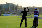 Thaworn Wiratchant of Thailand in action during the final round of the Sharjah Senior Golf Masters presented by  Shurooq played at Sharjah Golf & Shooting Club on March 10, 2018 in Sharjah, United Arab Emirates.