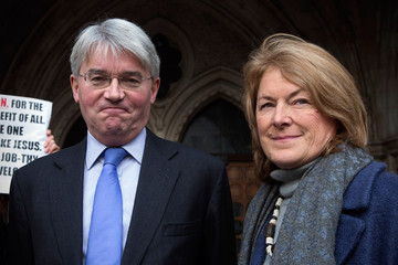 Sharon Bennett Andrew Mitchell Arrives at the High Court