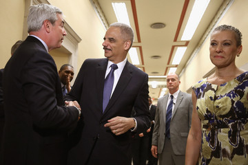 Sharon Malone Farewell Ceremony Held For Outgoing Attorney General Eric Holder At Justice Dept.