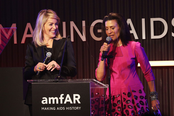 Inside the amfAR Inspiration Gala [event,pink,talent show,performance,speech,convention,spokesperson,public speaking,media,stage,sharon stone,president,andrea fiuczynski,christie,los angeles,california,milk studios,mac viva glam,amfar inspiration gala]