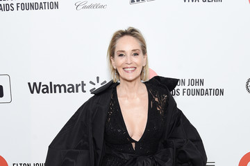 Sharon Stone 28th Annual Elton John AIDS Foundation Academy Awards Viewing Party Sponsored By IMDb, Neuro Drinks And Walmart - Red Carpet