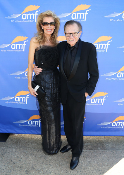 Alfred Mann Foundation's an Evening Under the Stars With Andrea Bocelli [suit,premiere,electric blue,event,tuxedo,carpet,little black dress,andrea bocelli,lary king,shawn king,california,los angeles,alfred mann foundation,l,an evening under the stars]