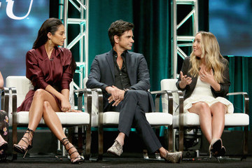 "Shay Mitchell The Cast and Creatives of ""YOU"" at The 2018 Summer Television Critics Association Press Tour"