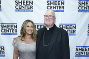 Vanessa Williams and Cardinal Timothy Dolan attend Sheen Center presents Vanessa Williams & Friends: thankful for Christmas with guests Norm Lewis, Michael Urie, and Bernie Williams at Sheen Center for Thought & Culture on November 18, 2019 in New York City.
