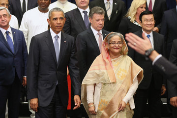 Sheikh Hasina President Obama Attends Annual UN General Assembly