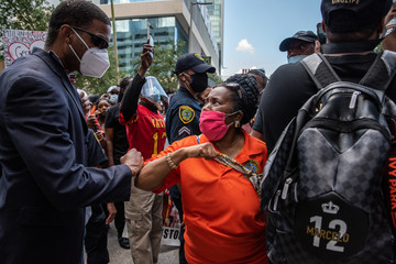 Sheila Jackson Lee George Floyd's Family Joins March To Honor Him In Houston