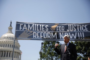 Sheldon Whitehouse Bipartisan Group Of Senators Join Rally For Prison Reform At US Capitol