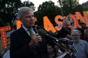Sheldon Whitehouse Candlelight Vigil Held In Front Of White House As Part Of Nationwide Protest